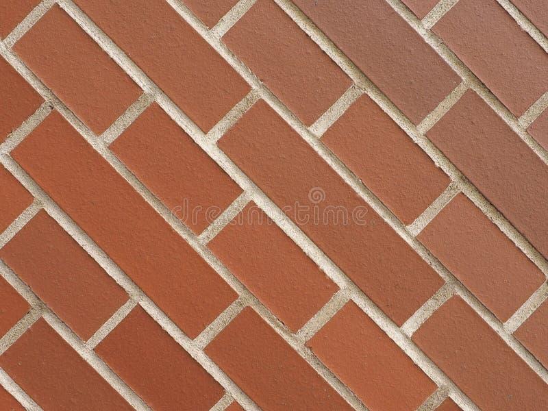 tegelplattor för bakgrund för vägg för röd tegelsten diagonala arkivbilder