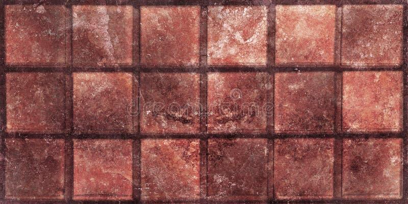 Tegelplattor för kaffefärgmosaik, design för mosaik för golvtegelplattor, hög upplösningstextildekor arkivfoto