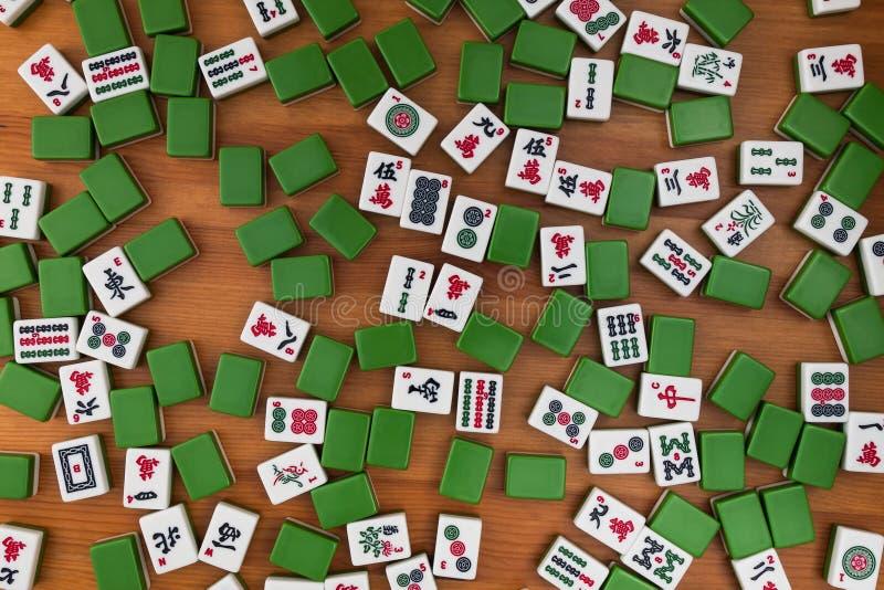 Tegelplattor för mahjong Inget tomt ställe royaltyfria bilder