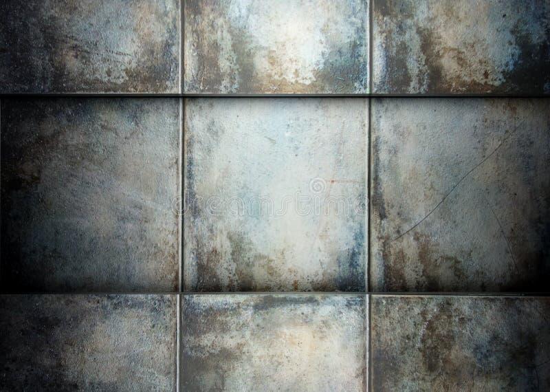 tegelplattor för mall för bakgrundsgrungesqure arkivfoto