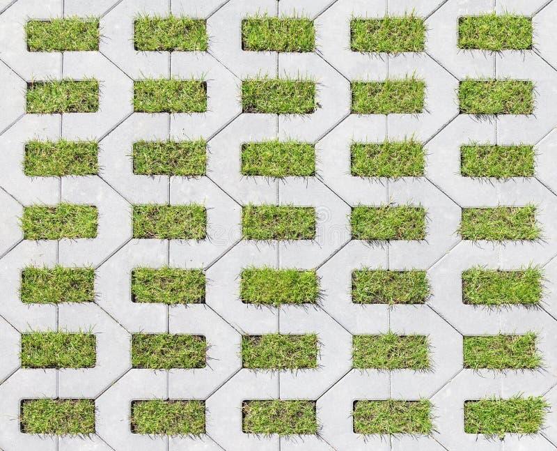 Tegels met gras royalty-vrije stock foto's