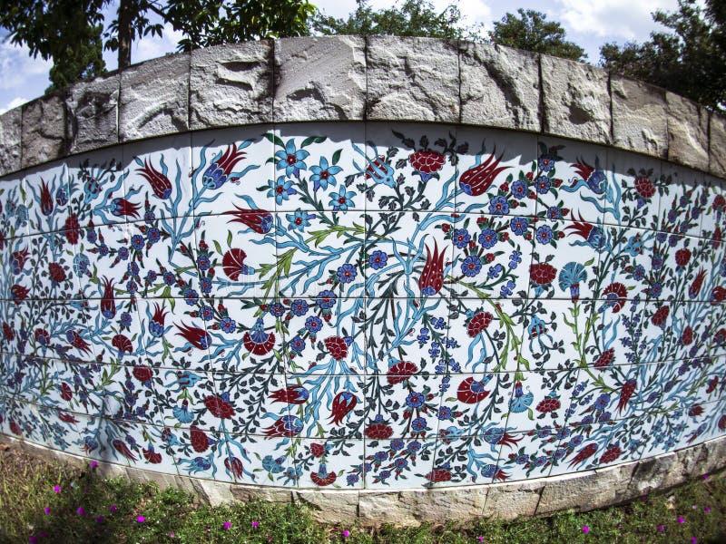 Tegels Turkije; Turkse keramische tegels/Tegels en ceramische kunst in Turkije stock foto's