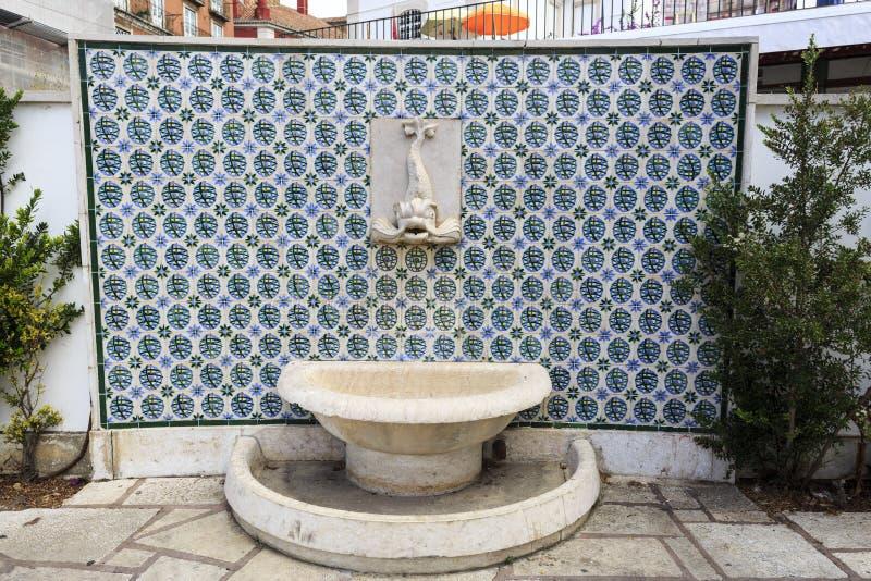 Tegels van Belvedere van Santa Luzia stock fotografie