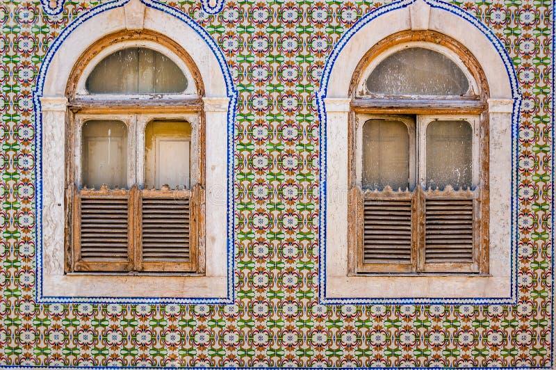 Tegels van een typisch huis in Lissabon royalty-vrije stock foto