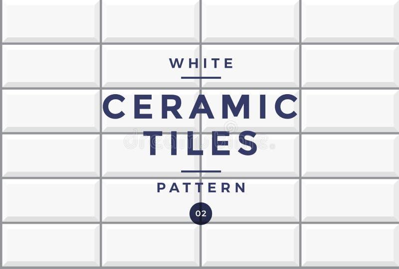 Tegels voor bekleding Wit ceramisch mozaïekpatroon van rechthoekige vorm vector illustratie