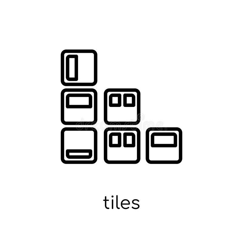 Tegelspictogram In modern vlak lineair vectortegelspictogram op wit vector illustratie