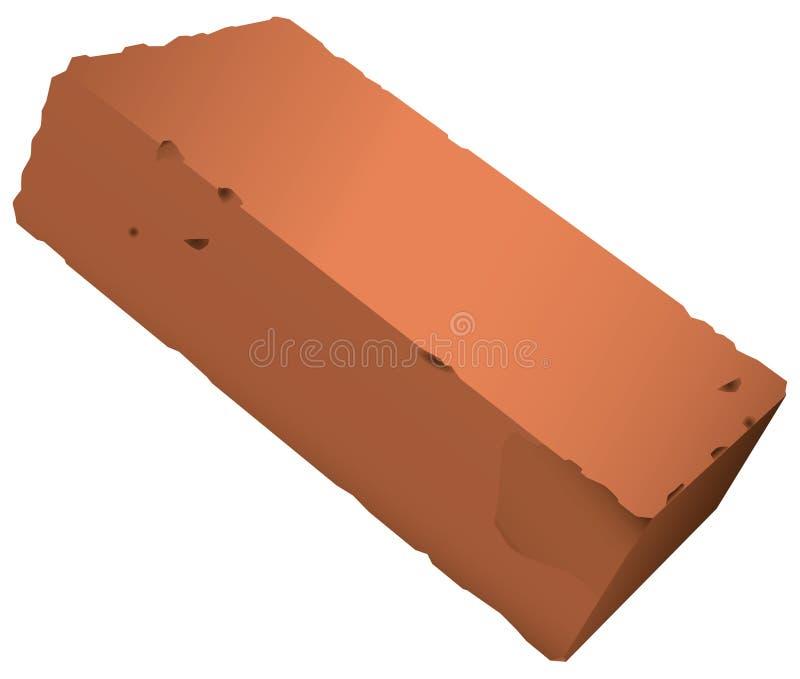 Tegelsten från röd lera royaltyfri illustrationer