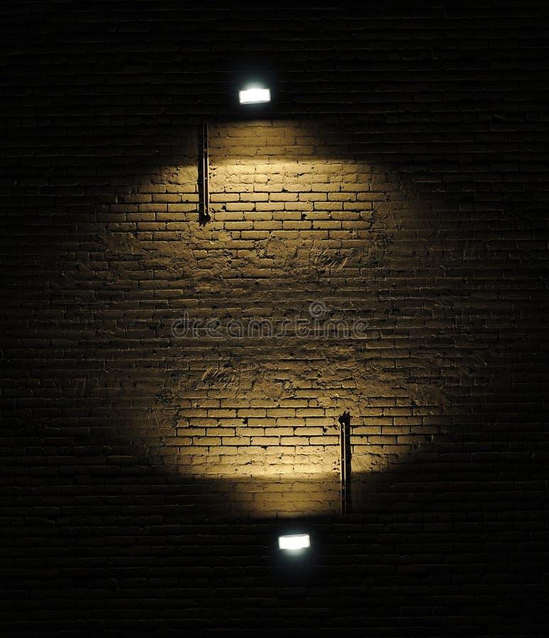 tegelsten riktar uppmärksamheten på väggen fotografering för bildbyråer