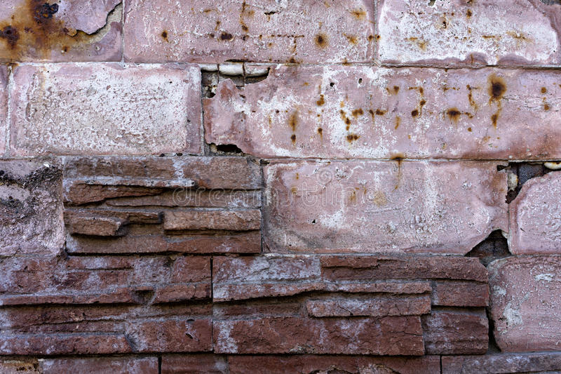 Tegelsten texturerar arkivbilder