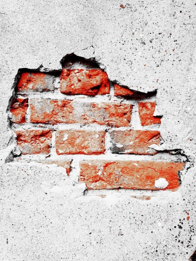 Tegelstenar i en vägg arkivfoto