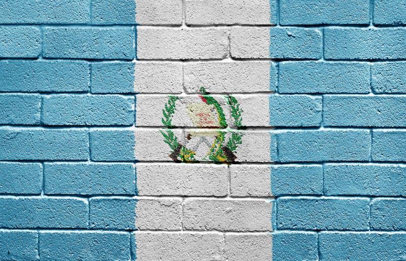 tegelstenflaggaguatemala vägg royaltyfria bilder