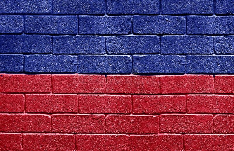 tegelstenflaggahaiti vägg royaltyfri foto