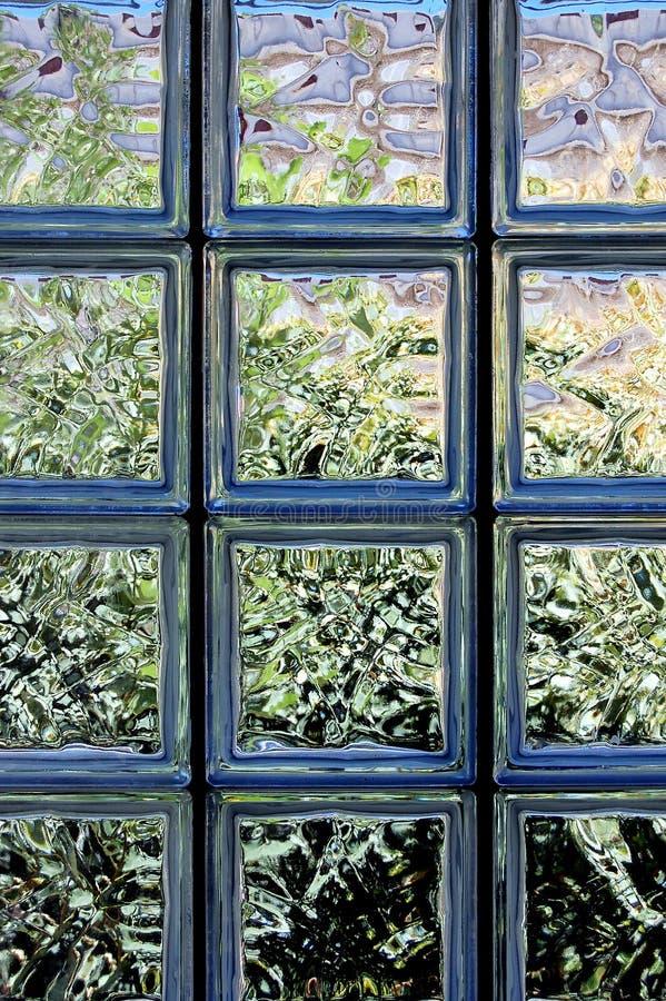 tegelstenglasvägg arkivbild