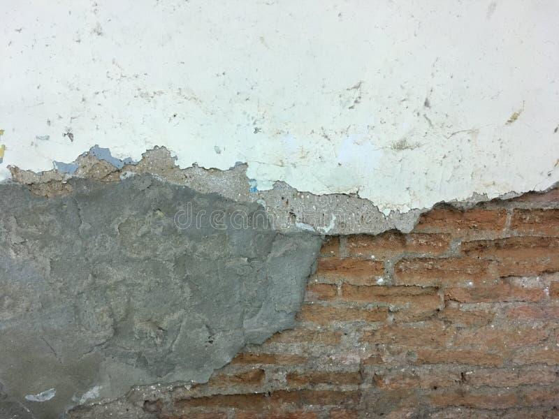 Tegelstengrungevägg arkivbilder