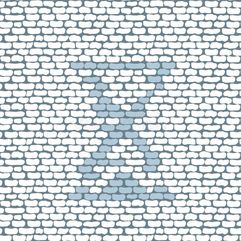 Tegelstenlogosymbol med sandglass vektor illustrationer
