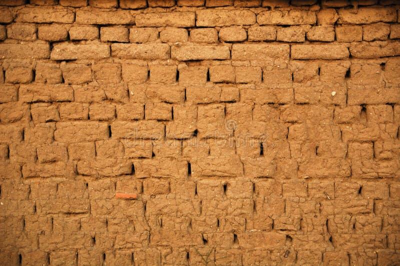 tegelstenmudvägg fotografering för bildbyråer
