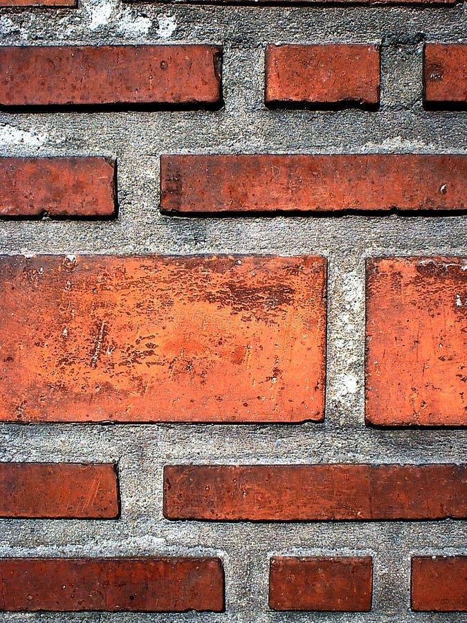 Download Tegelstenvägg fotografering för bildbyråer. Bild av orange - 31241