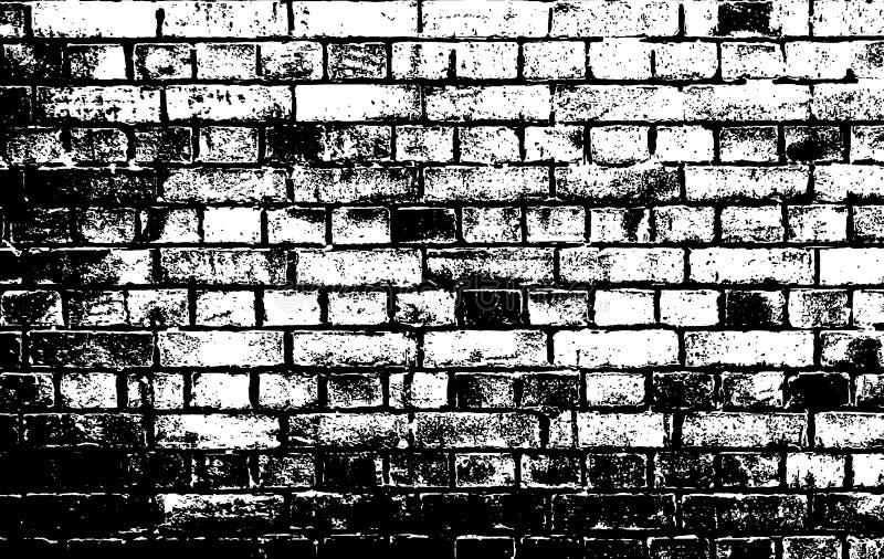 tegelstenvägg stock illustrationer