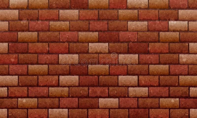 Tegelstenvägg, brun bakgrund för textur för vägg för röda tegelstenar för den grafiska designen, vektor stock illustrationer