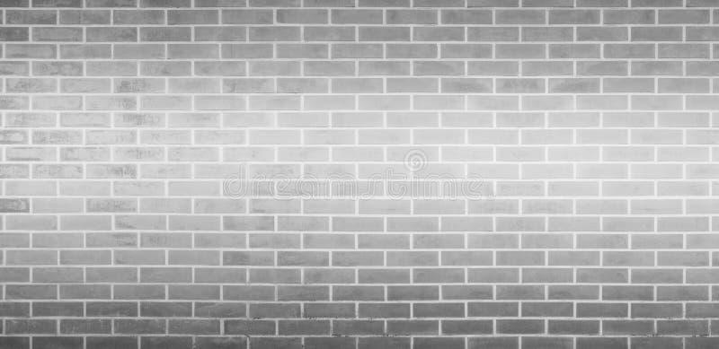 Tegelstenvägg, grå vit bakgrund för textur för tegelstenvägg för grafisk design royaltyfri fotografi