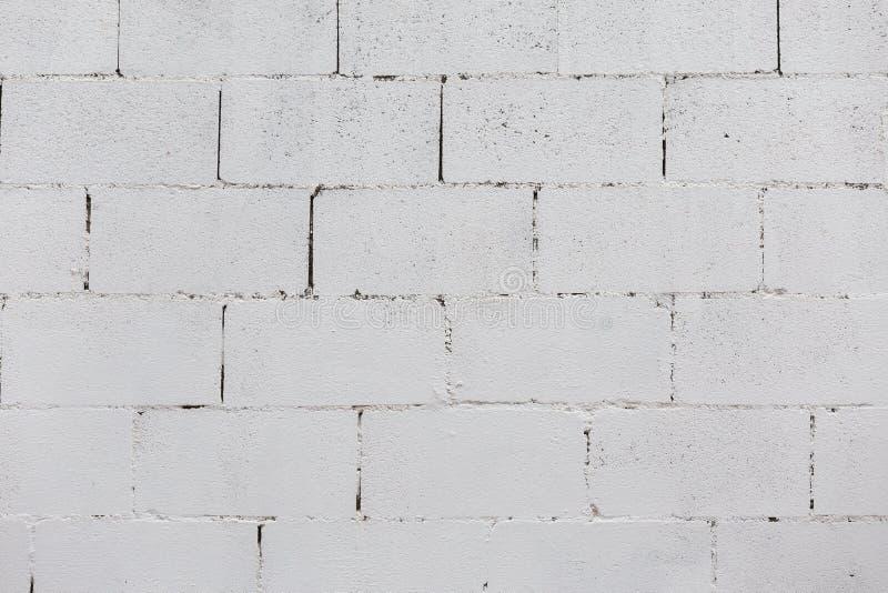Tegelstenvägg som målas på vit arkivbild