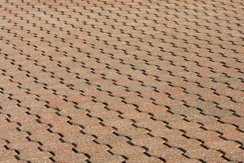 tegelstenwalkway arkivbild