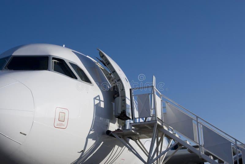 Tegengehouden vliegtuig royalty-vrije stock foto's