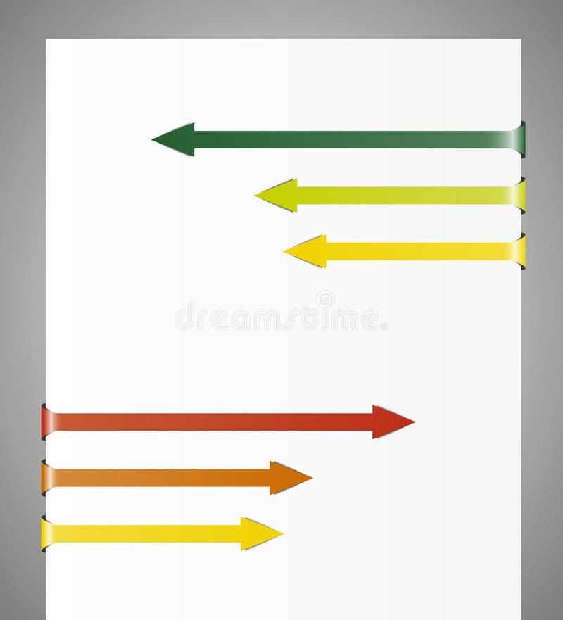 Tegengesteld gevouwen pijlen royalty-vrije illustratie