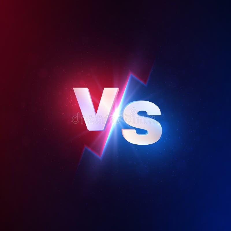 Tegenover achtergrond Versus de slagconcurrentie, mma het vechten uitdaging Luchaduel versus wedstrijdconcept royalty-vrije illustratie