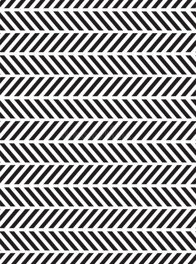 TEGENSTRIJDIGE DIAGONALE LIJNEN OPTISCH ART. Naadloos vectorpatroon stock illustratie