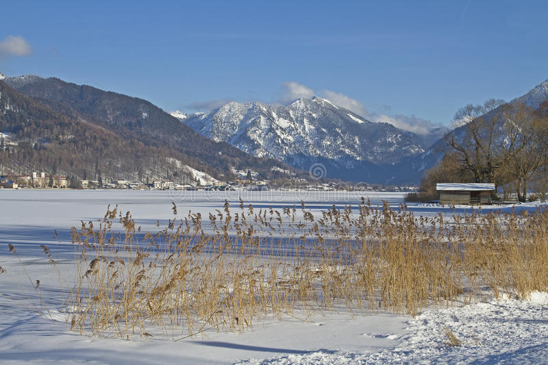 Tegernsee - Lake In Wintertime Stock Photography