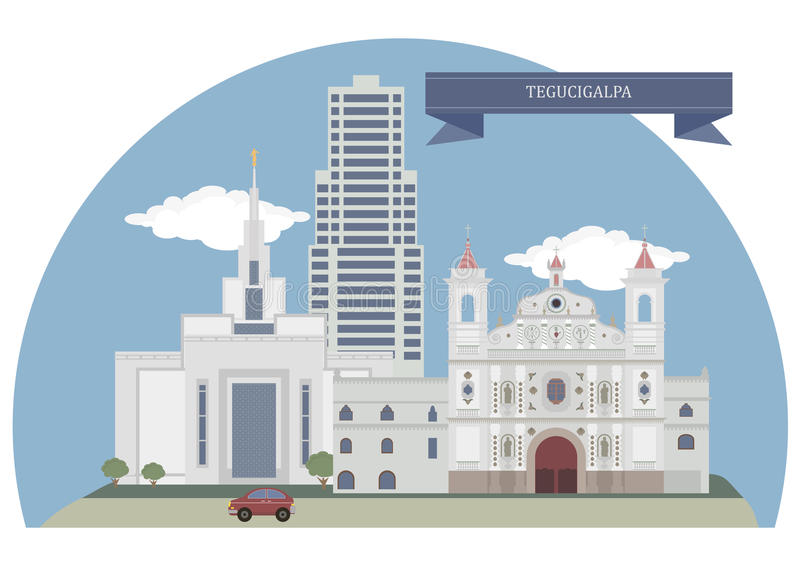 Tegucigalpa, Honduras illustration libre de droits