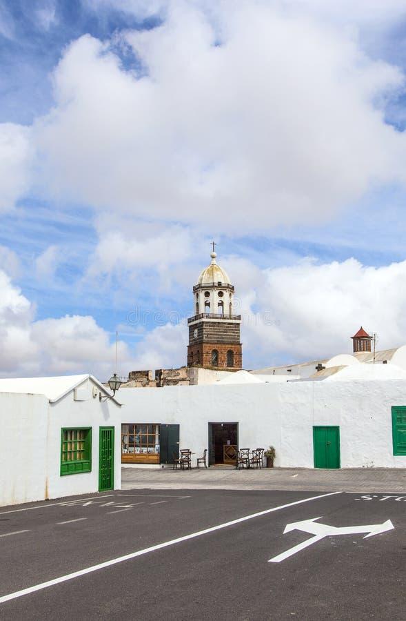 Teguise, Lanzarote, Κανάριο νησί, Church Iglesia de Nuestra Sen στοκ φωτογραφίες