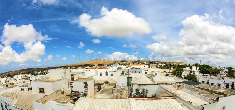 Teguise, Lanzarote, Κανάριο νησί, Church Iglesia de Nuestra Sen στοκ φωτογραφία