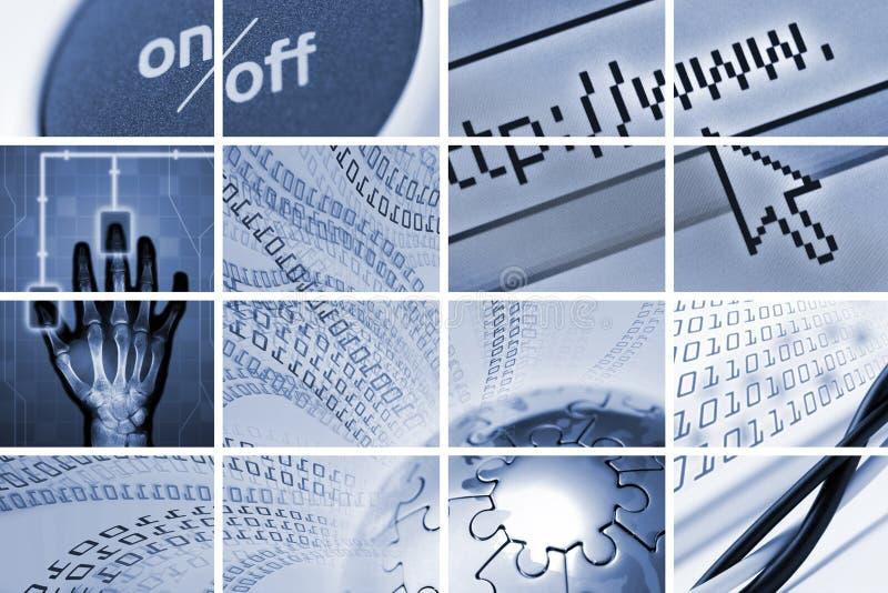Tehcnology e composição das comunicações imagem de stock