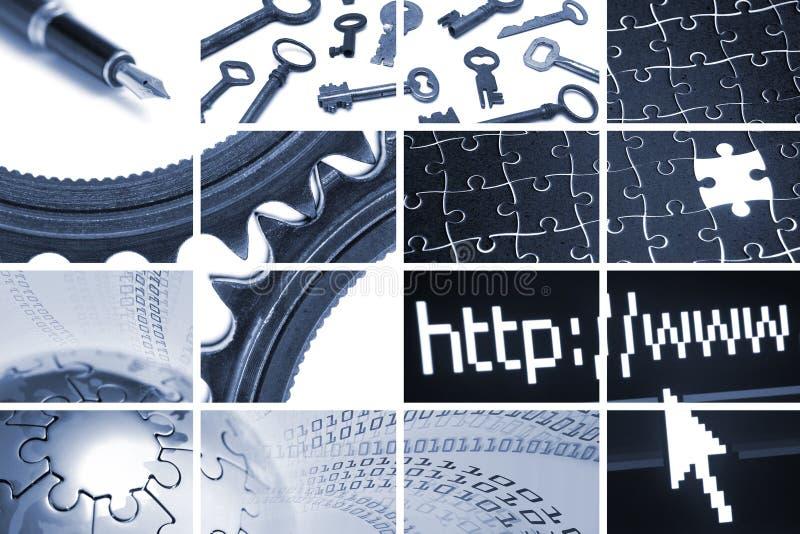 Tehcnology und Kommunikationsaufbau lizenzfreie stockfotos