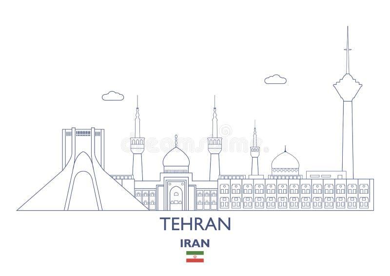 Teheran miasta linia horyzontu, Iran ilustracja wektor