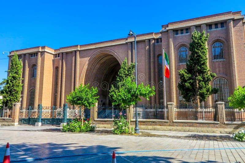 Teheran nationellt museum av Iran 01 arkivbilder