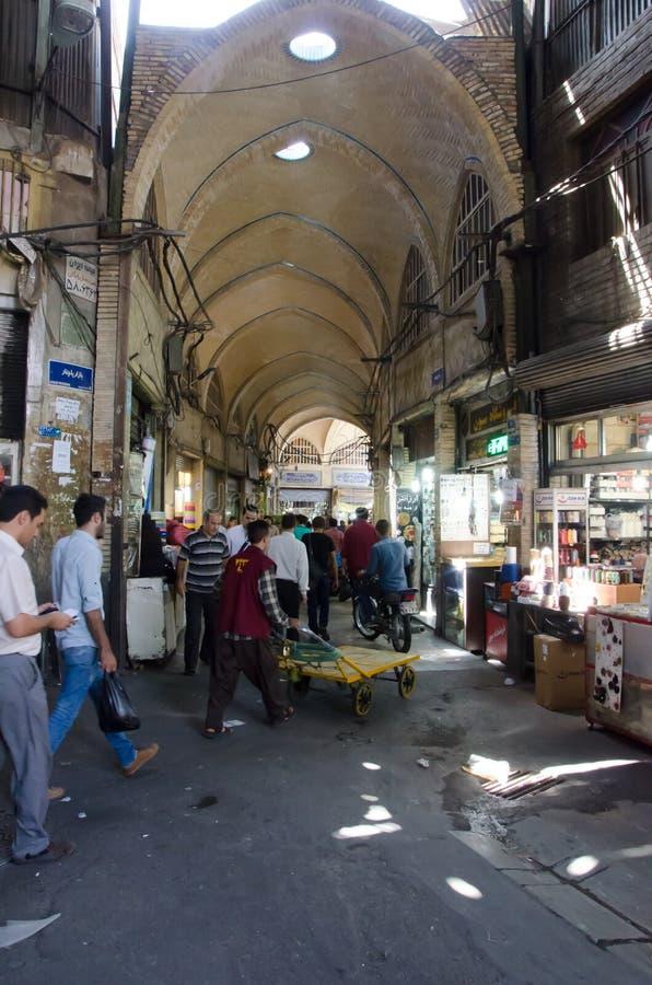 Teheran tusen dollarbasar royaltyfri fotografi