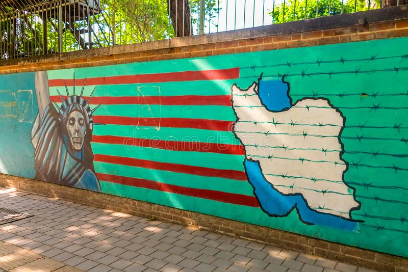 Teheran USA håla av spionage 03 arkivbild
