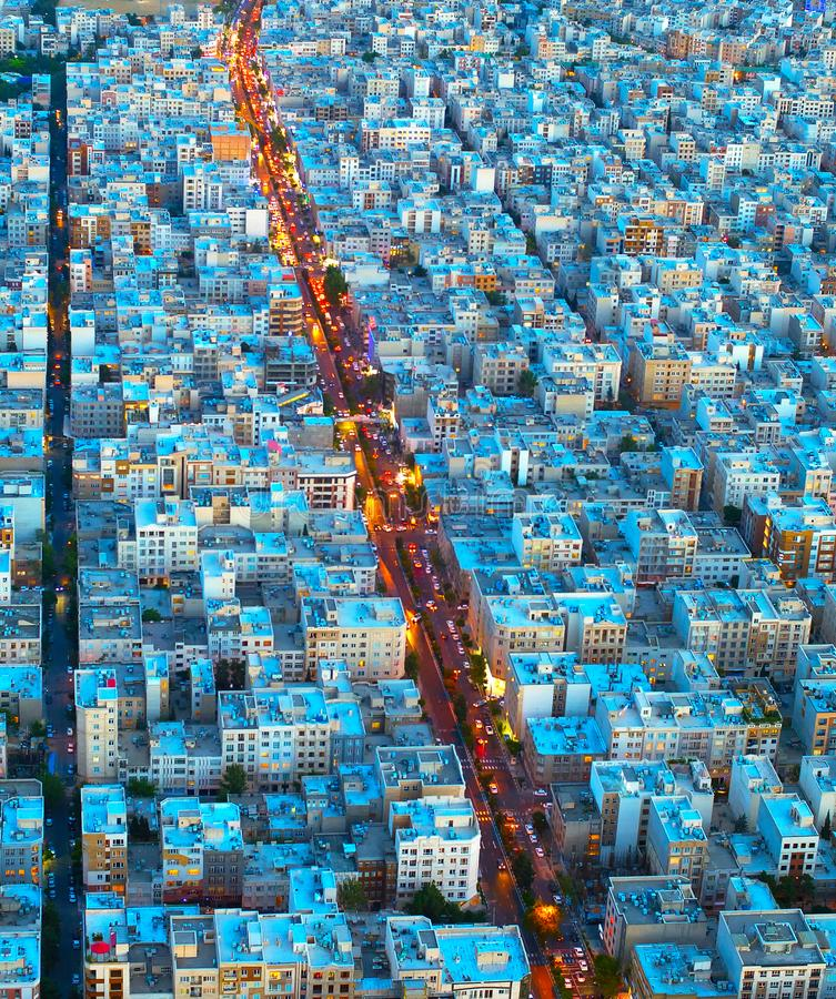 Tehran aerial view. Iran royalty free stock photos