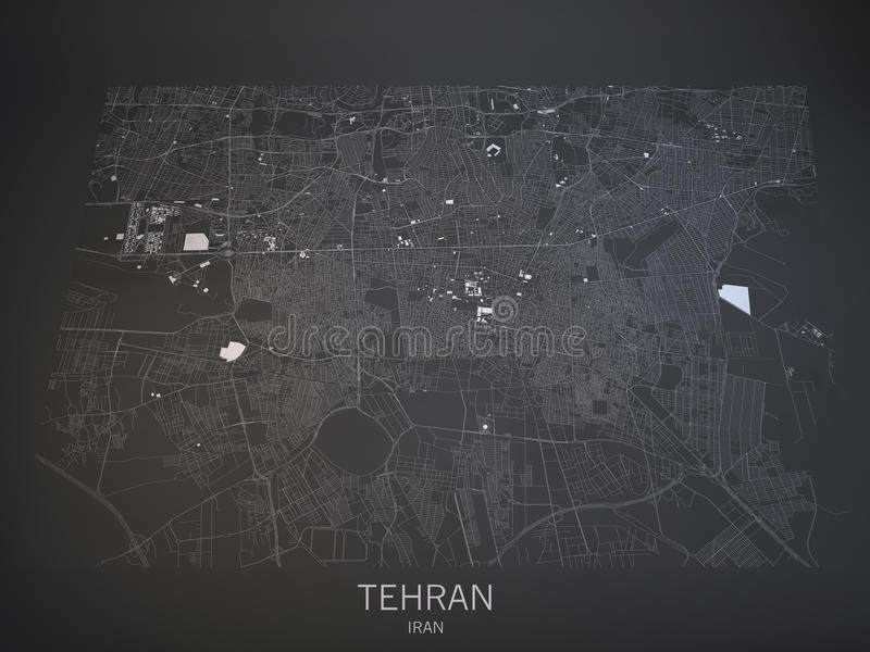 Download Tehran Streets And Buildings 3d Map