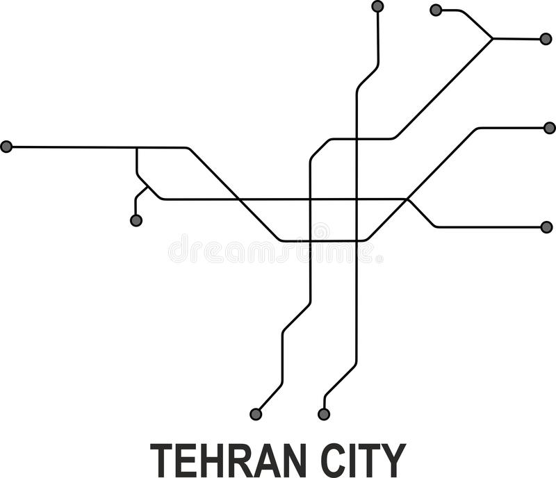 Tehran Subway Map.Tehran Map Stock Illustrations 500 Tehran Map Stock Illustrations