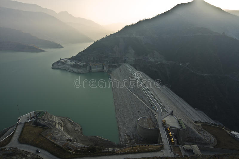 Tehri水坝 库存照片