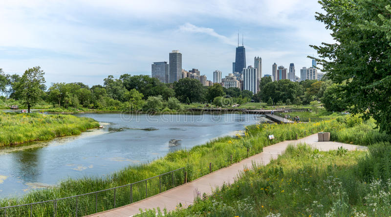 Teich an Chicago-` s Lincoln Park stockfoto