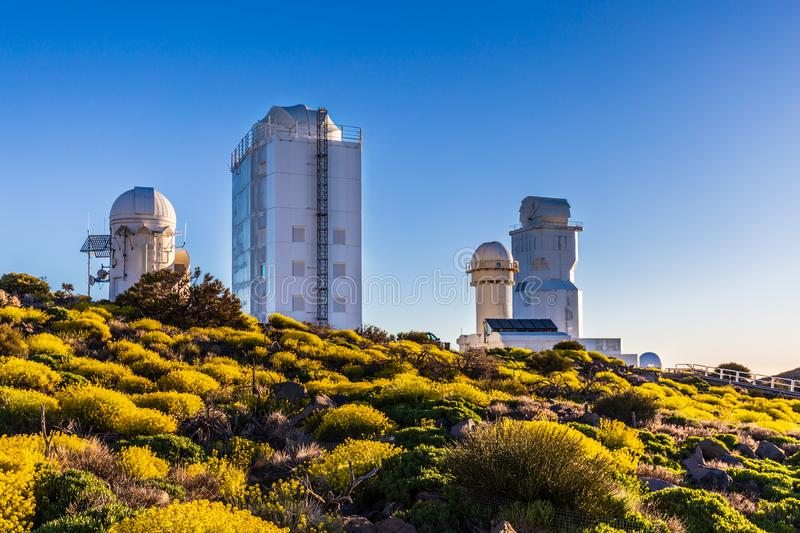 Teide astronomical observatory in Tenerife Island, Spain.  royalty free stock photo