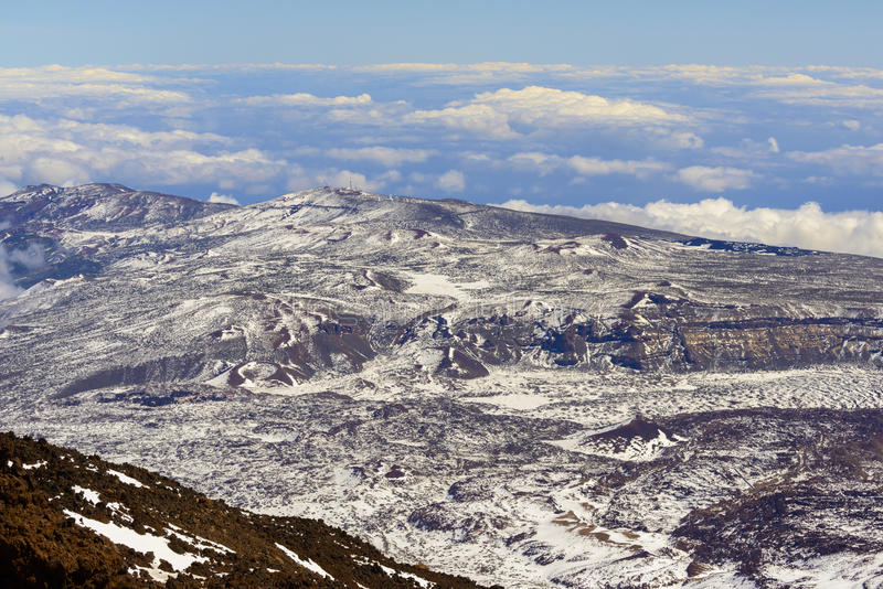 Teide Crater Landscape royalty free stock photo
