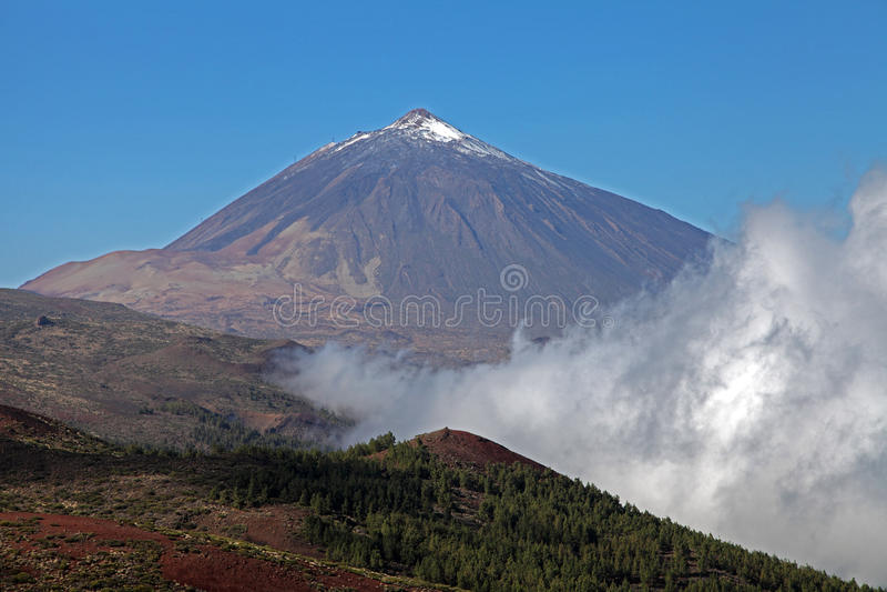 Teide jest wulkanem fotografia royalty free