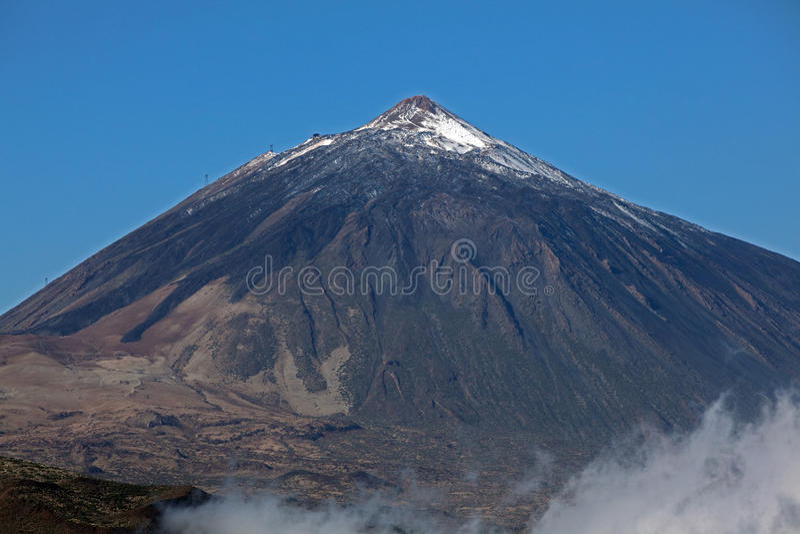 Teide jest wulkanem obrazy stock