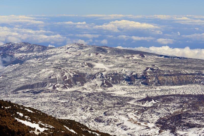 Teide kraterlandskap royaltyfri foto